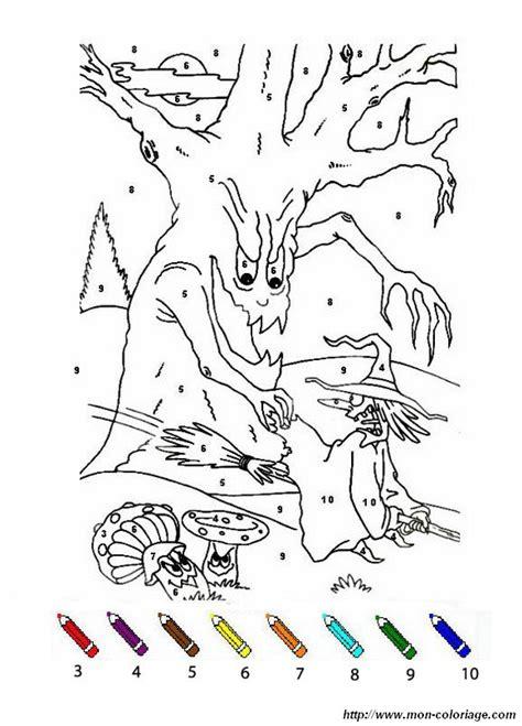 coloriage de coloriages magiques dessin  arbre  une
