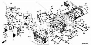 Honda Motorcycle 2018 Oem Parts Diagram For Trunk Box