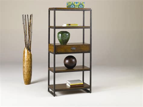 Etagere With Drawers by Hammary Baja Etagere With 4 Shelves And Drawer S
