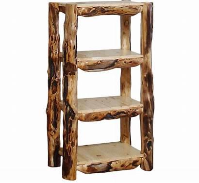 Display Shelves Log Shelf Rustic Tall Aspen