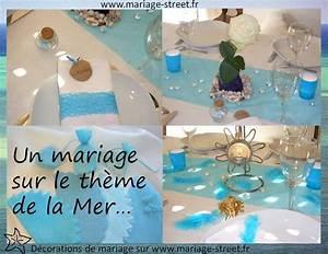 Mariage Theme Mer : theme mariage mer et ocean mariage mer table decorations sister wedding et decor ~ Nature-et-papiers.com Idées de Décoration