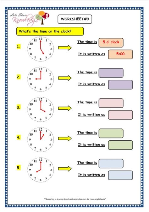 maths worksheets year 3 time kidz activities