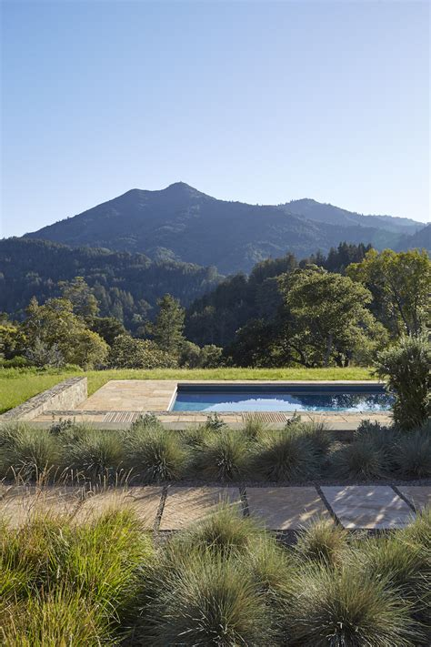 swimming pool of the week a view through the oaks in