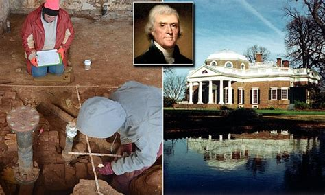 archaeologists find sally hemings room  monticello daily mail