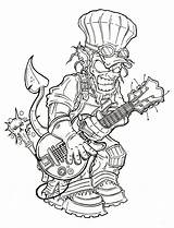 Coloring Pages Adult Demon Badass Tattoo Drawings Drawing Steampunk Mermaid Line Books Demons Colouring Template Google Deviantart Disney Graffiti Horror sketch template
