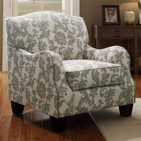 accent chair  floral pattern fabric  coaster