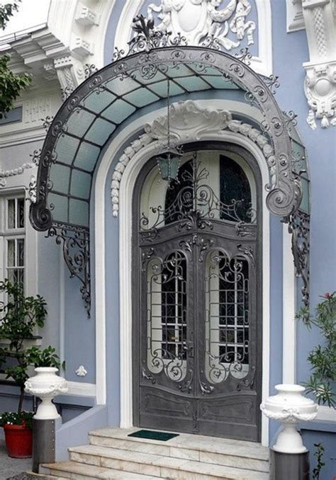 portes meubles de cuisine porte en fer forgé plus de 40 modèles fascinants