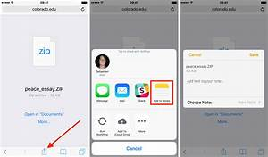 Open zip files for How to open documents on iphone