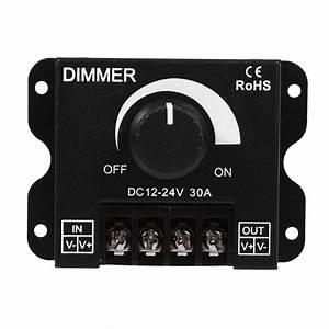 Dc12v 24v 30a Led Single Color Led Dimmer Controller
