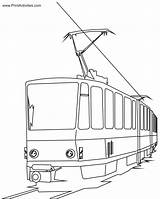 Train Coloring Electric Pages Cartoon Passenger Tram Clipart Bullet Express Polar Colouring Children Bridge Cat Fan Trains Printable Clip Cartoons sketch template