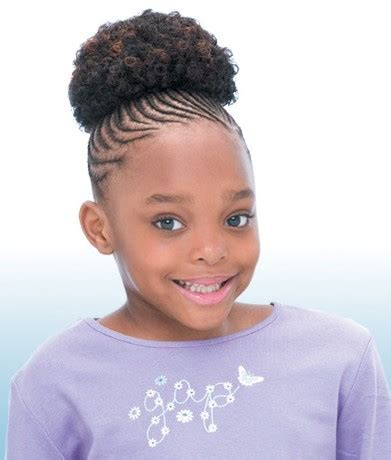 Kid Ponytail Hairstyles by Freetress Ponytail Afro 4 Inch