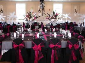 inexpensive wedding venues in pink and black wedding reception decorations the wedding