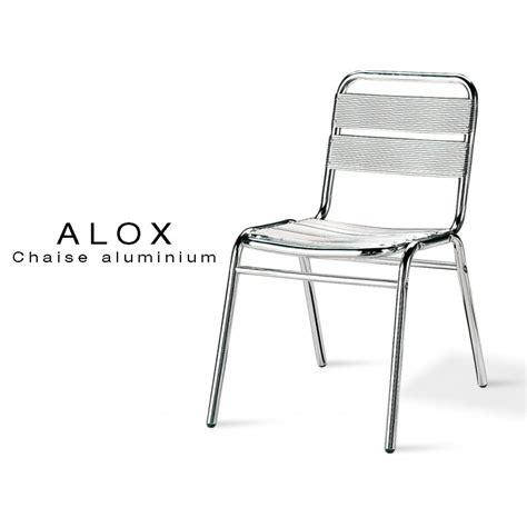 chaise de terrasse pour restaurant chaise aluminium alox pour terrasse de café et jardin