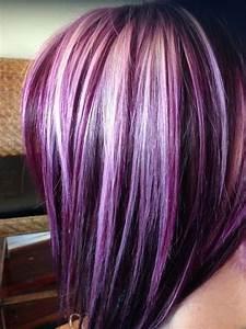 95 Purple Hair Color Highlights Lowlights For Dark Burgundy Plum Violets Colors Koees Blog