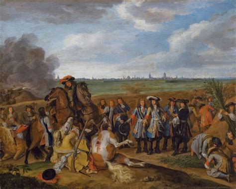 siege louis xv louis xiv with his army at the seige of courtrai in 1667