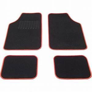 tapis voiture universel moquette noir surjet rouge feu vert With tapis auto rouge
