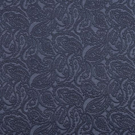 Blue Paisley Upholstery Fabric by E574 Blue Paisley Durable Jacquard Upholstery Grade