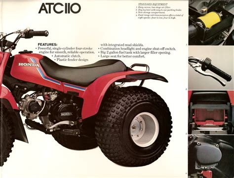 the honda atc brochure page