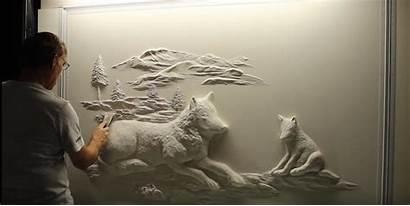 Drywall Sculptures Mitchell Bernie Artist Ordinary Eye