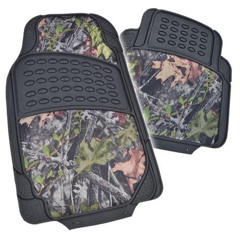 camo floor mats hd rubber floor mats camo inlay 4pc heavy duty car truck