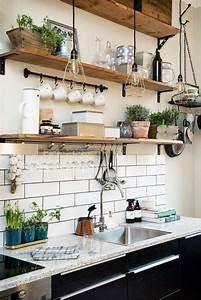 farmhouse kitchen ideas on a budget involvery community blog With delightful meuble salon noir et blanc 16 etagare murale blanche etagare design metal tablette