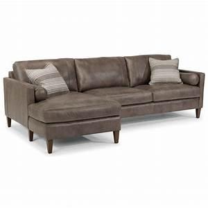 Flexsteel latitudes vivian contemporary sectional with for Flexsteel sectional sofa with chaise