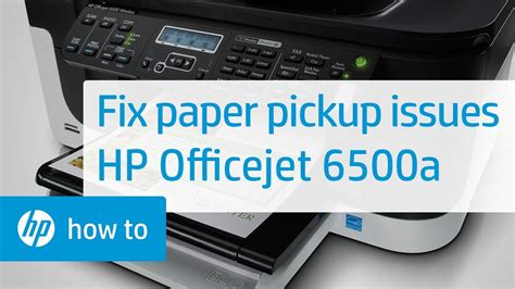 The full solution software includes everything you need to install and use your hp printer. Fixing Pick-Up Issues | HP Officejet 6500a Plus e-All-in-One Printer (E710n) | HP - YouTube