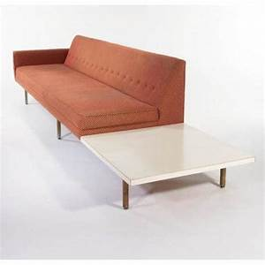 george nelson sofa with attached end table With sectional sofa with table attached