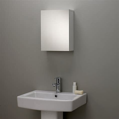lewis bathroom mirrors buy lewis gloss single mirrored bathroom cabinet 18950