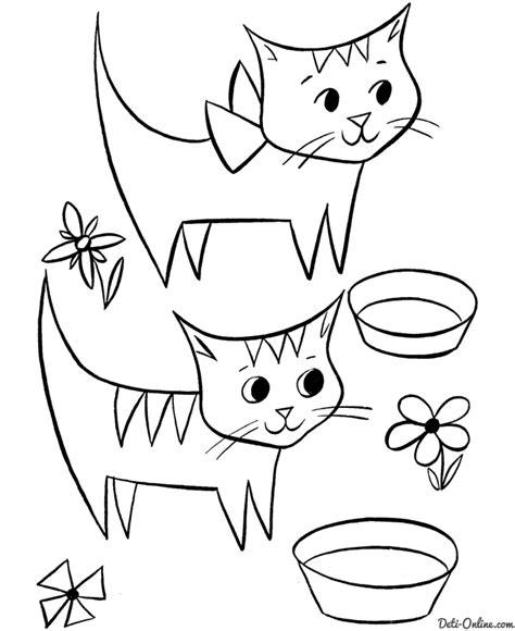 dibujos de gatos bonitos  colorear
