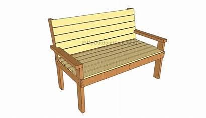 Bench Plans Park Outdoor Furniture Diy Wooden