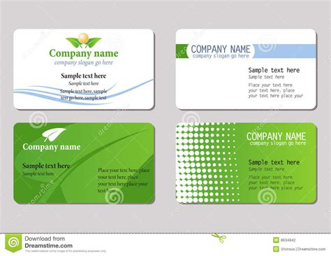 business cards templates stock photography image