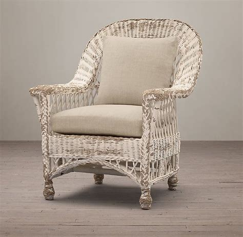 langtry wicker chair white style furniture