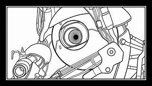 Portal 2 - Coop Bots Speed Drawing