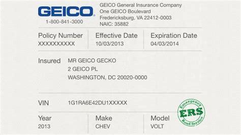 geico car insurance card template  gemescoolorg