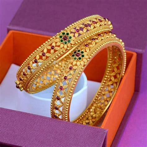 latest gold bangle design  handmade crafts