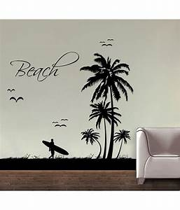 Decor kafe decal style beach wall sticker buy decor kafe for Beach wall decals