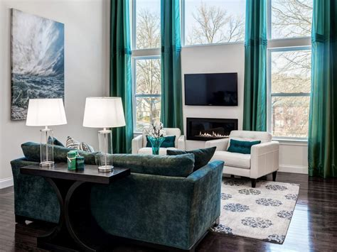 Grey And Turquoise Living Room by Dp S And K Interiors Gray Contemporary Living Room