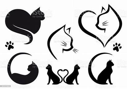 Cat Vector Designs Graphic Heart Cats Illustration
