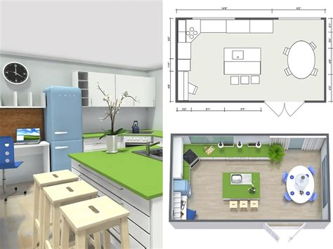 kitchen design floor plans plan your kitchen with roomsketcher roomsketcher