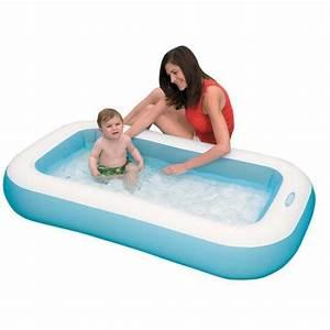 Pataugeoire gonflable rectangulaire pour petits enfants for Piscine gonflable pas cher pour adulte 3 fauteuil de chambre pas cher