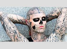 The Canadian Model Rick Genest, Known As