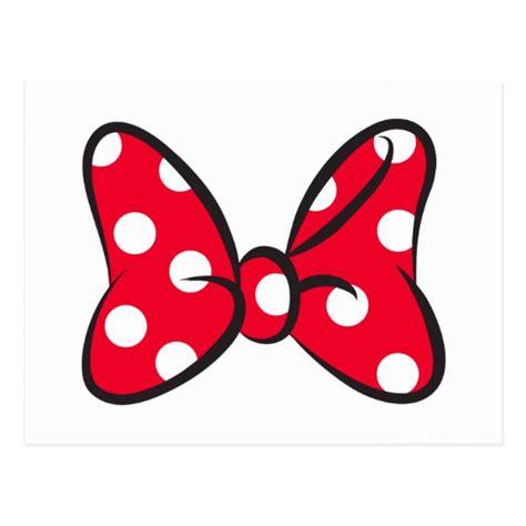 trendy minnie red polka dot bow postcard zazzlecom