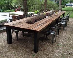 Reclaimed wood outdoor furniture rustic outdoor tables for Outdoor wood dining tables
