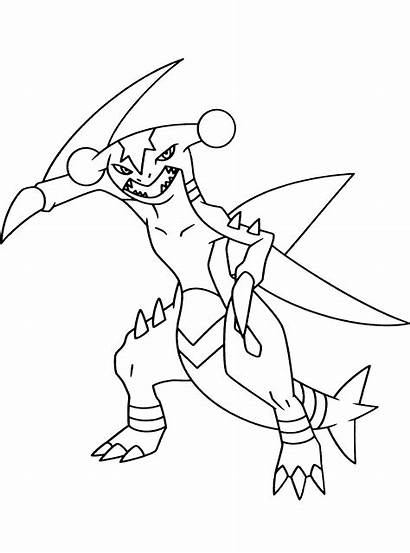 Pokemon Coloring Garchomp Colorear Ausmalbilder Kleurplaten Kleurplaat