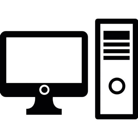 desktop computer icon black and white desktop computer icons free