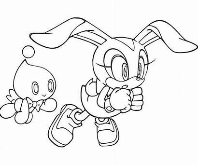 Coloring Sonic Cream Rabbit Amy Bunny Play