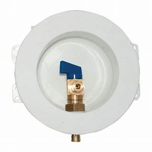 Eastman 1  2 In  Pex Round Mini Ice Maker Outlet Box