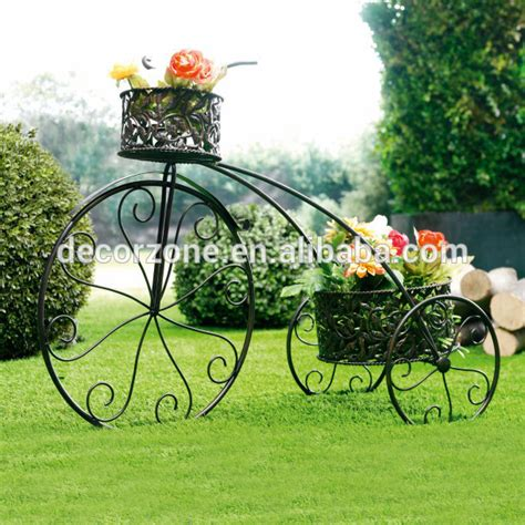 wrought iron flower pots bicycle plant stand buy bicycle