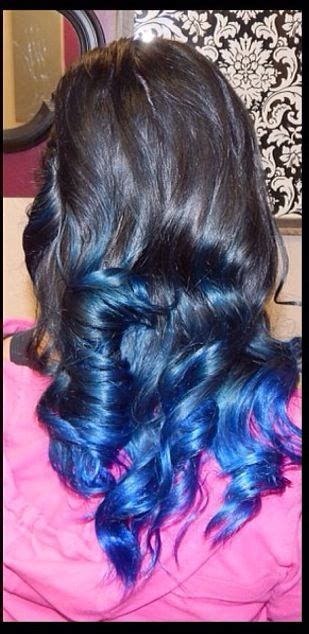 With Black Hair by Black Hair With Blue Tips Curled Hair Hair